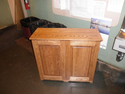 Custom Made 2 Bin Trash/ Recycling Cabinet