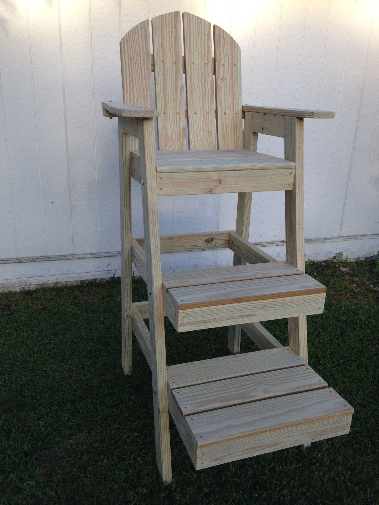 buy a hand made tall beach chair life guard chair made to