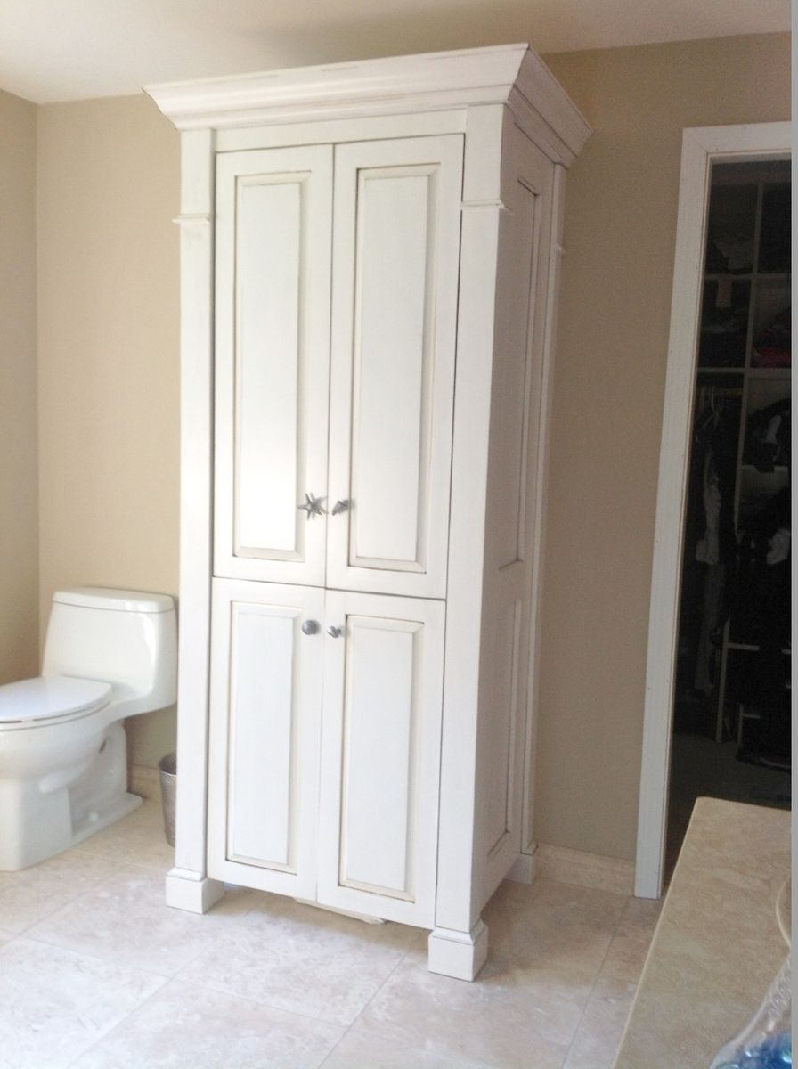 Custom Made Four Column Large Linen Closet By Custom Made