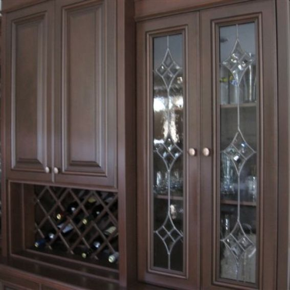 Cabinet Glass Inserts: Handmade Leaded Glass Inserts For Cabinets. By Glassworks