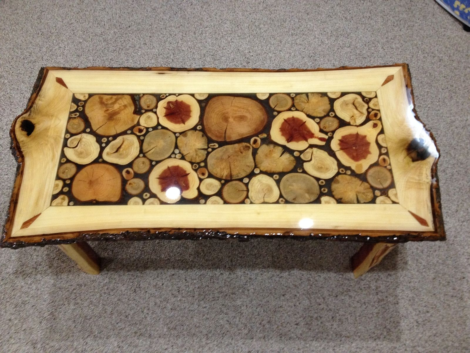 Hand Made Log Slice Coffee Tables by Live Edge Woodcrafts ...