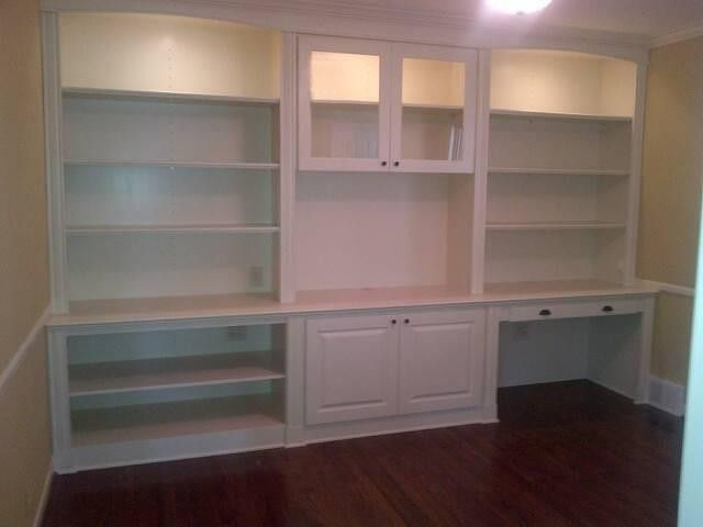 Hand Crafted Bookshelf Entertainment Center Desk By