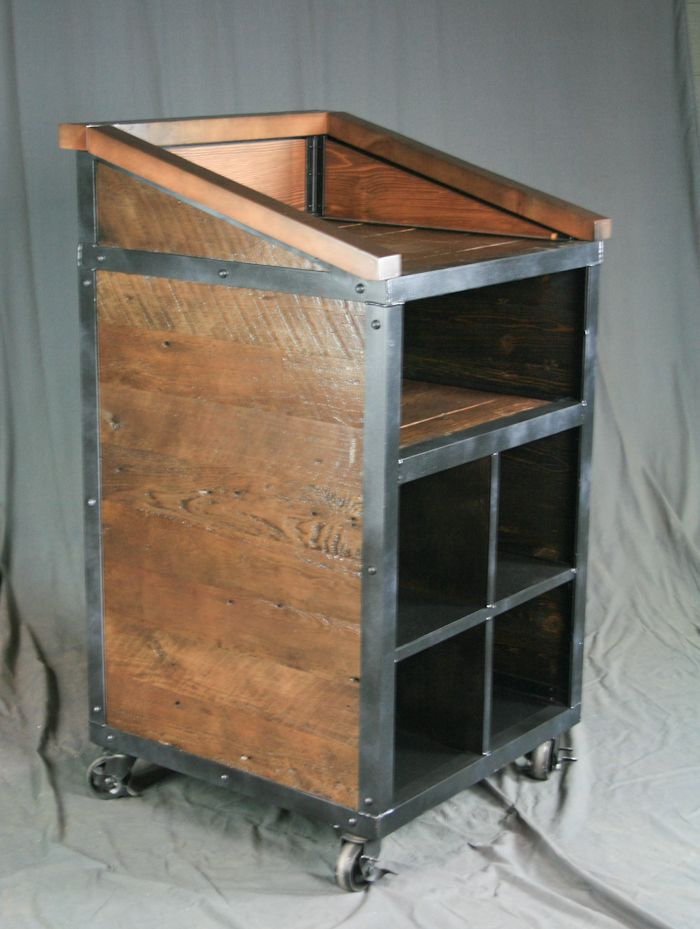 Buy A Hand Made Industrial Hostess Stand Podium Lectern