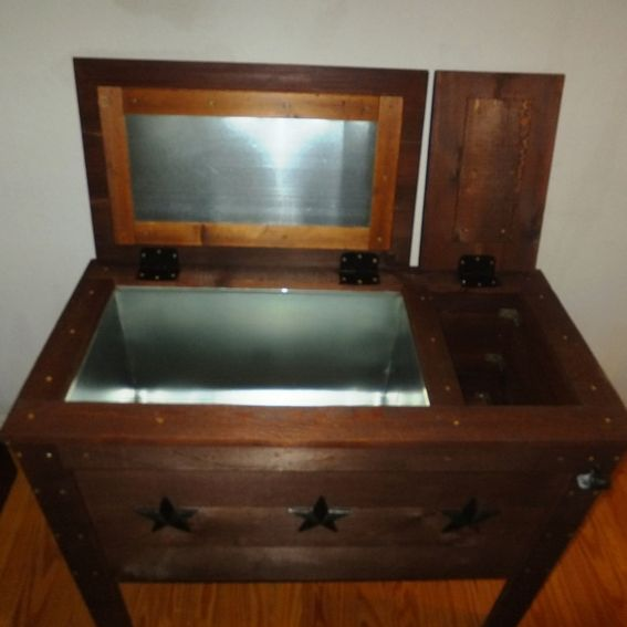 Handmade Rustic Wood Cooler Ice Chest 90qt By Thh