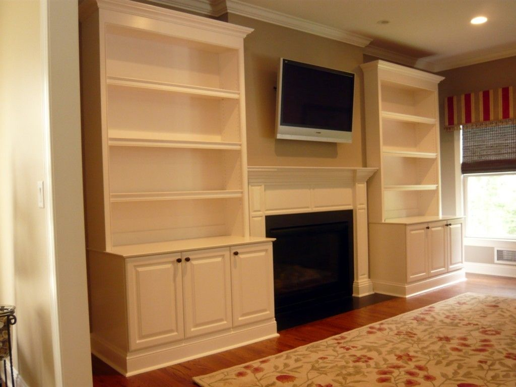 hand crafted traditional painted fireplace built ins by two rivers woodworking. Black Bedroom Furniture Sets. Home Design Ideas