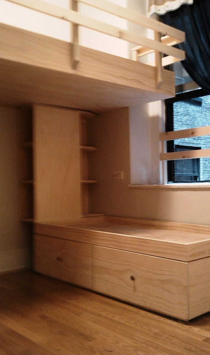 Hand crafted j s loft bed drawer stairs and captains bed by sticks for stones custom loft beds - Loft bed with drawer stairs ...