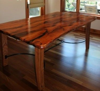 Hand Crafted Mesquite Dining Table By Porch Light Custom Woodworking Custom
