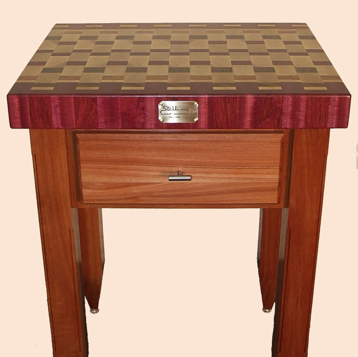 End Grain Butcher Block Kitchen Island : Custom Made End-Grain Butcher Block Island by Dissident Lumber Works CustomMade.com