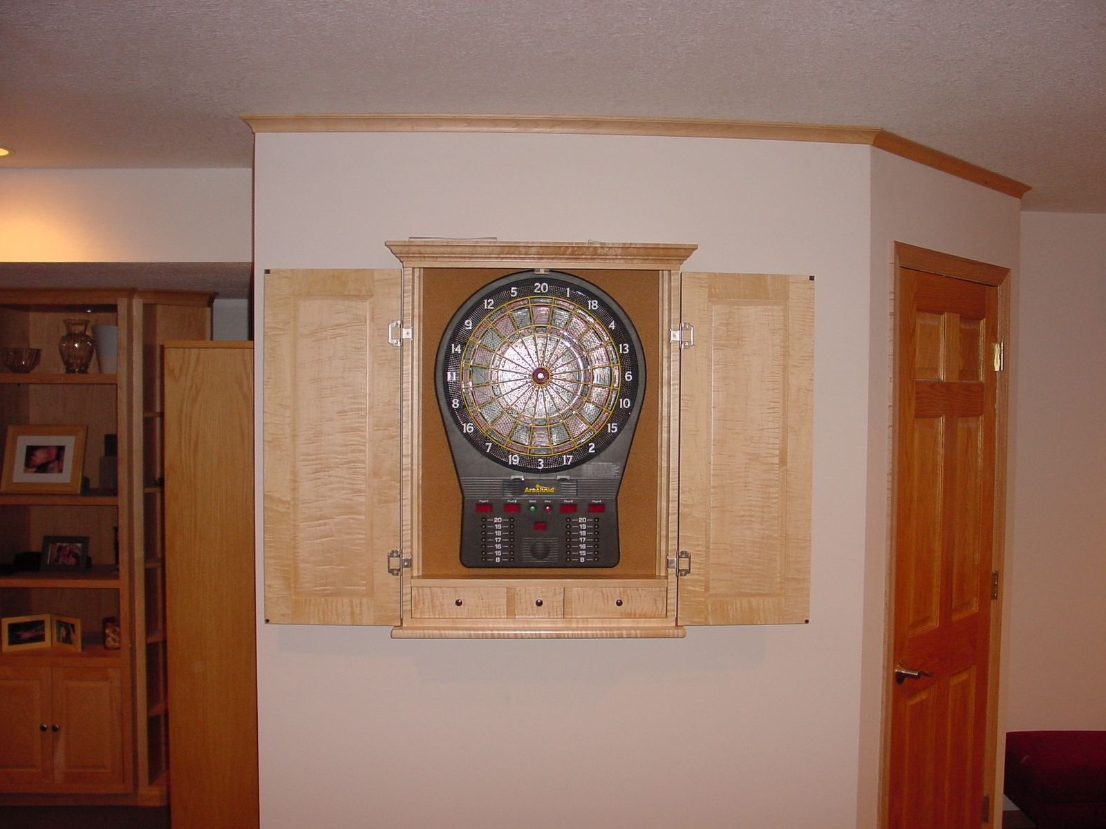 Custom Made Maple Dart Board Cabinets by BBG Woodworks ...