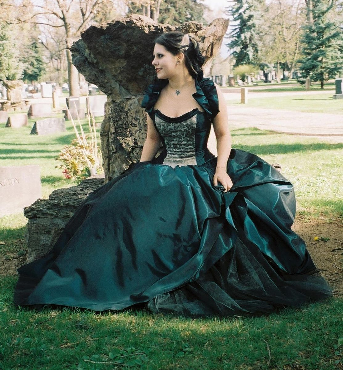 Plus Size Gothic Wedding Dress: Hand Made Masquerade Wedding Gown By The Secret Boutique