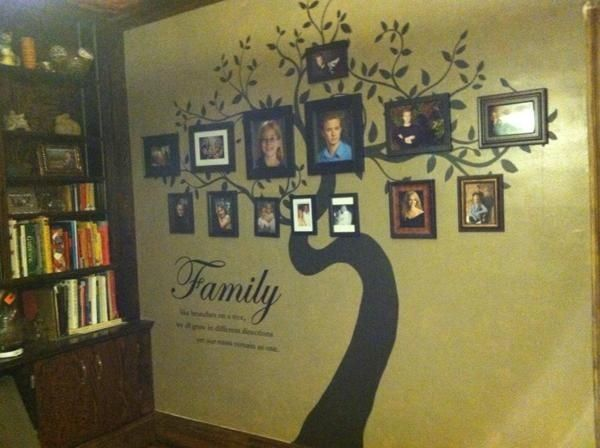 custom family tree large wall mural by reclaimed layne. Black Bedroom Furniture Sets. Home Design Ideas
