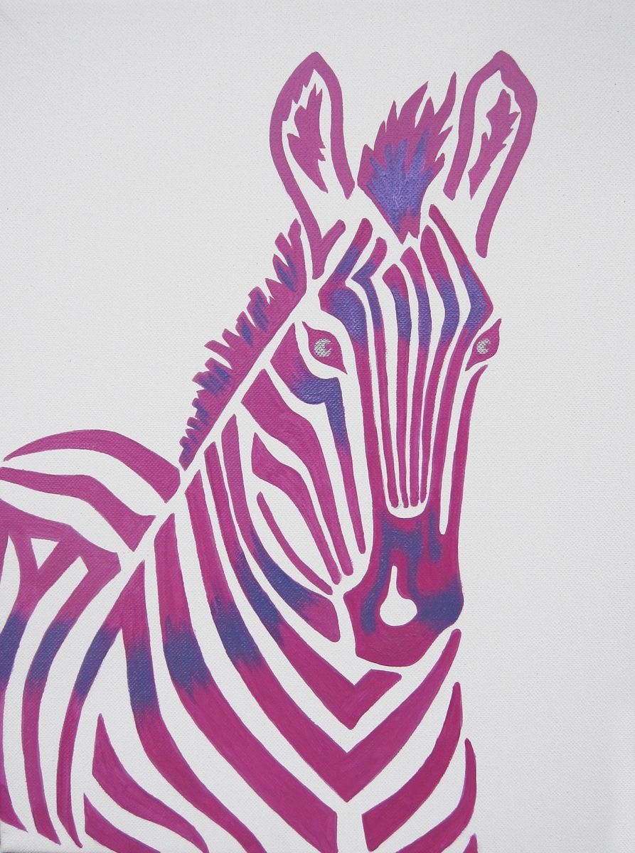 Custom pink zebra safari nursery art zoo animal by modern kids art - Exciting image of home decoration using pink zebra wallpaper ...