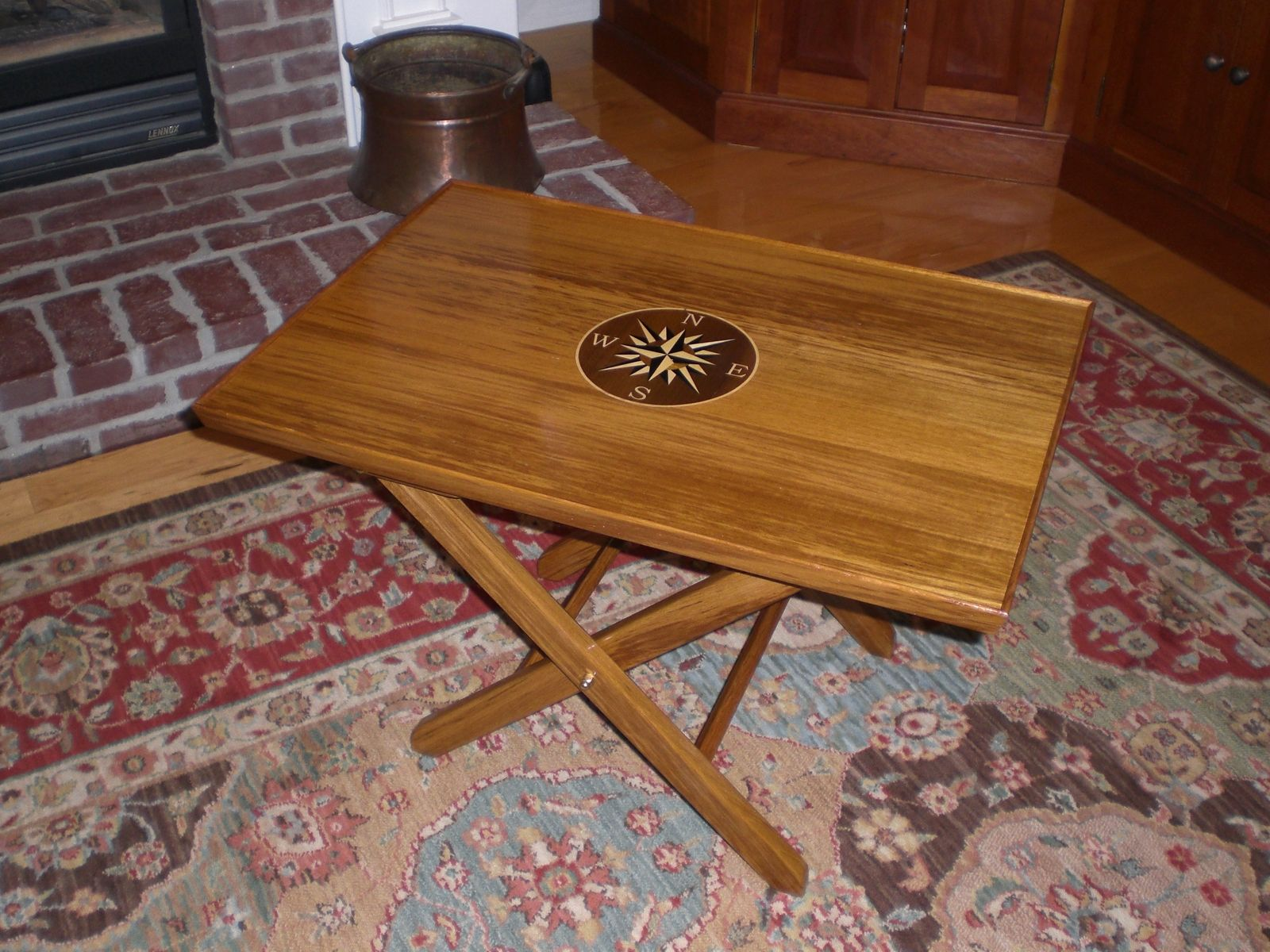 Custom Teak Marine Coffee Table By Oceanside Woodworking