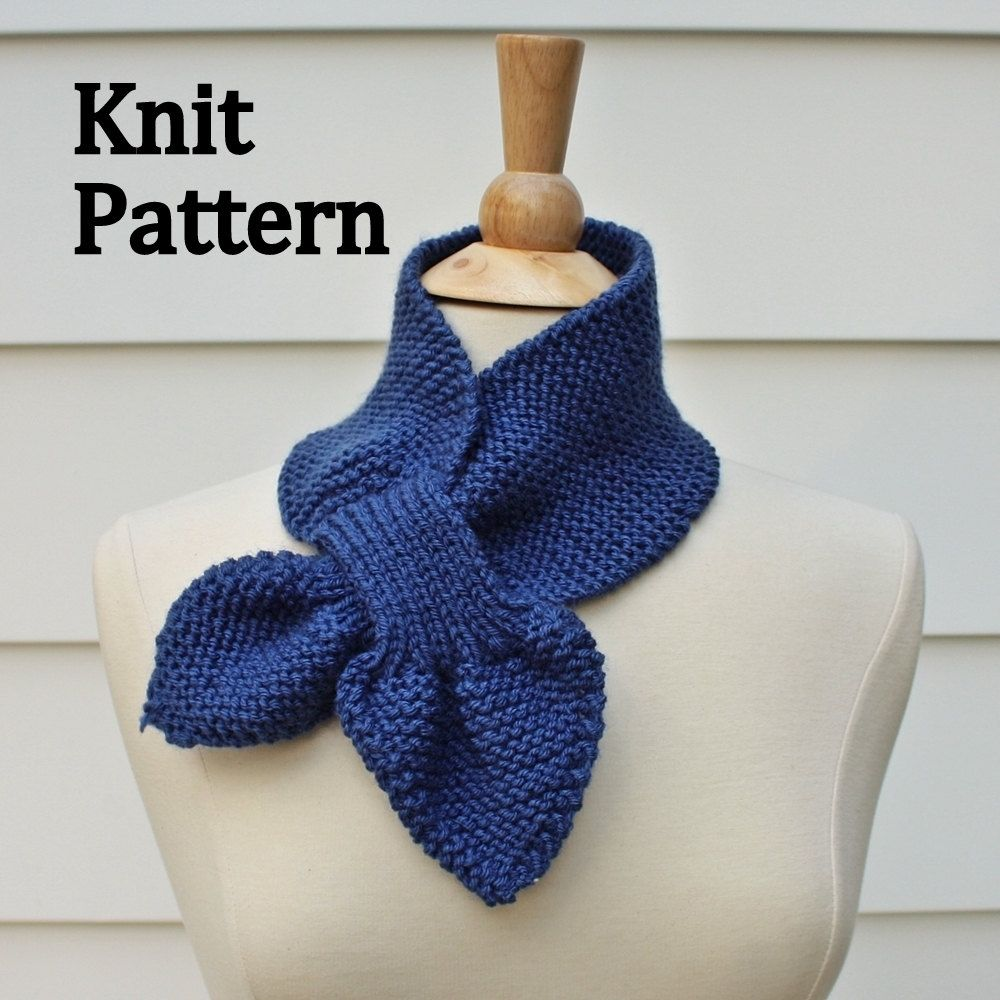Knitting Patterns For Winter : Hand Crafted Knit Pattern Keyhole Scarf Pattern - Unique ...