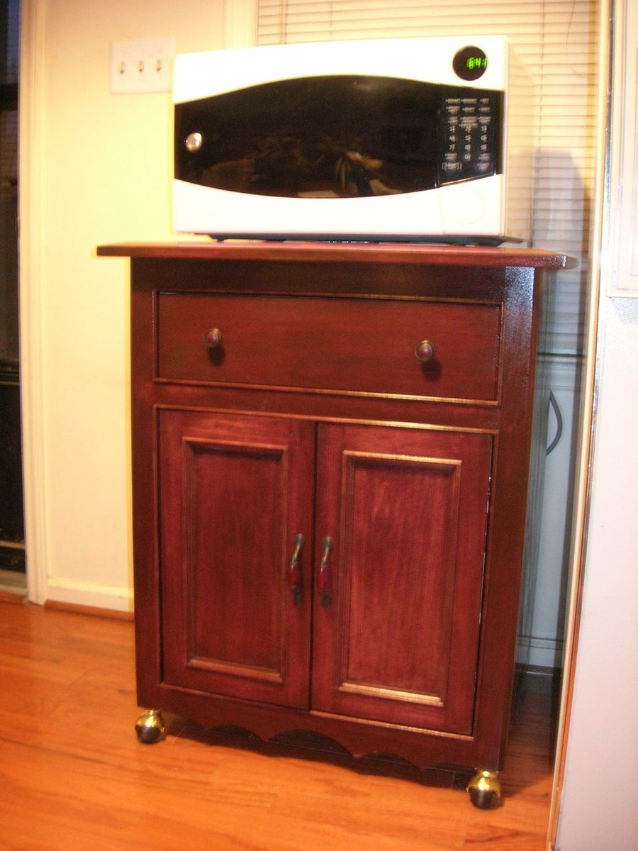 Hand Made Microwave Cabinet By D N Yager Woodworks