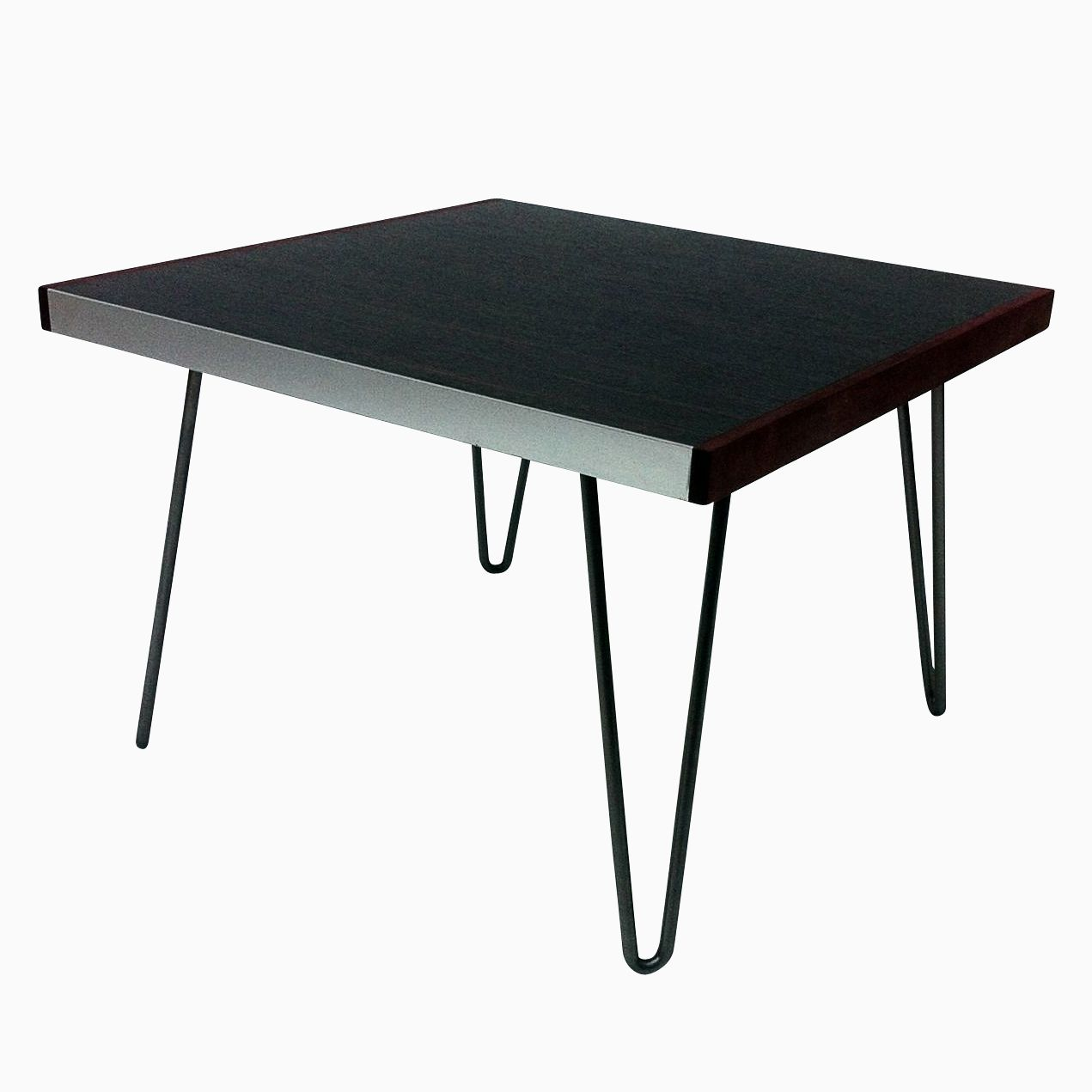 Buy Custom Mid Century Square Coffee Table W Hairpin Legs Made To Order From Studio1212