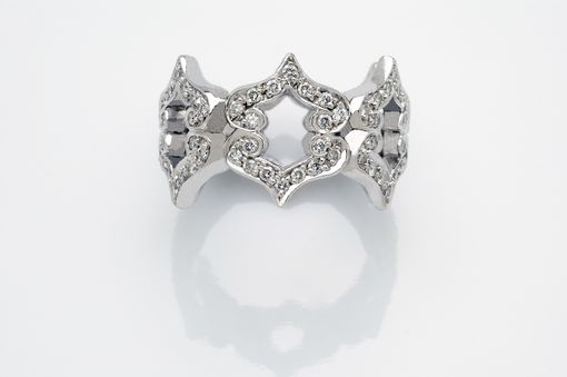 "Custom Made ""Kisses"" Diamond Ring By Cynthia Britt"
