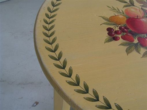 Custom Made Painted Round End Table