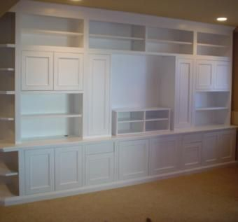 Custom Made Full Wall Entertainment Center