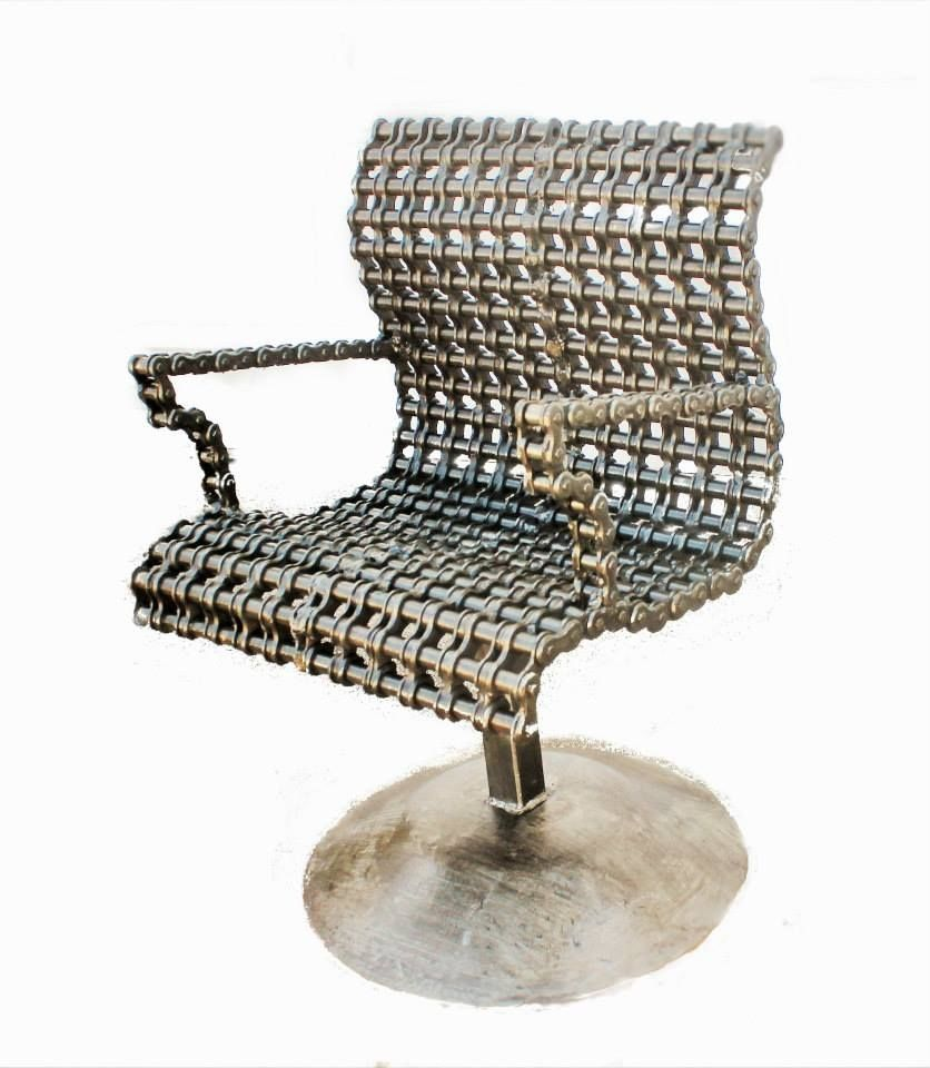 Buy a handmade studio furniture metal chair industrial art for Custom made furniture