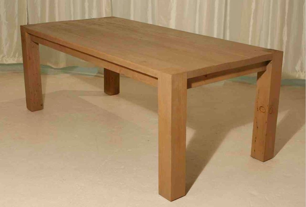 Hand Crafted Reclaimed Wood Roca Dining Table In A Natural