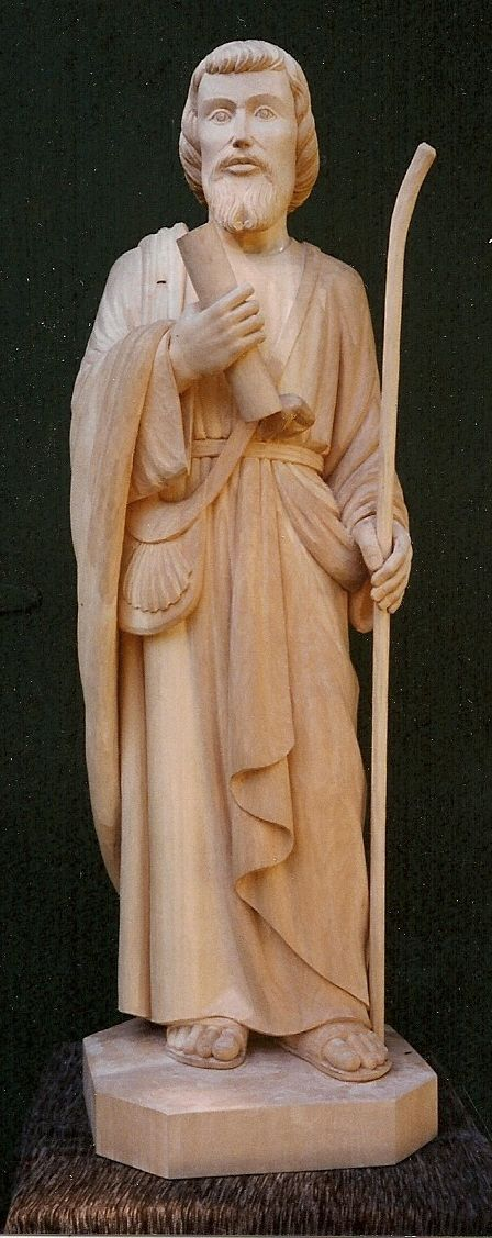 Hand Crafted St James The Apostle By Greenwood Sculptures
