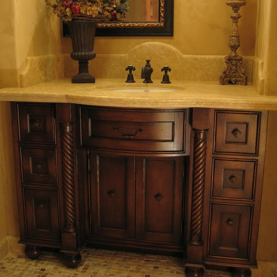 hand crafted custom alder vanities by ps woodworking