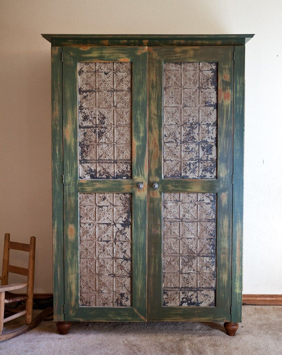 Hand Made Rustic Computer Armoire By Lone Star Artisans