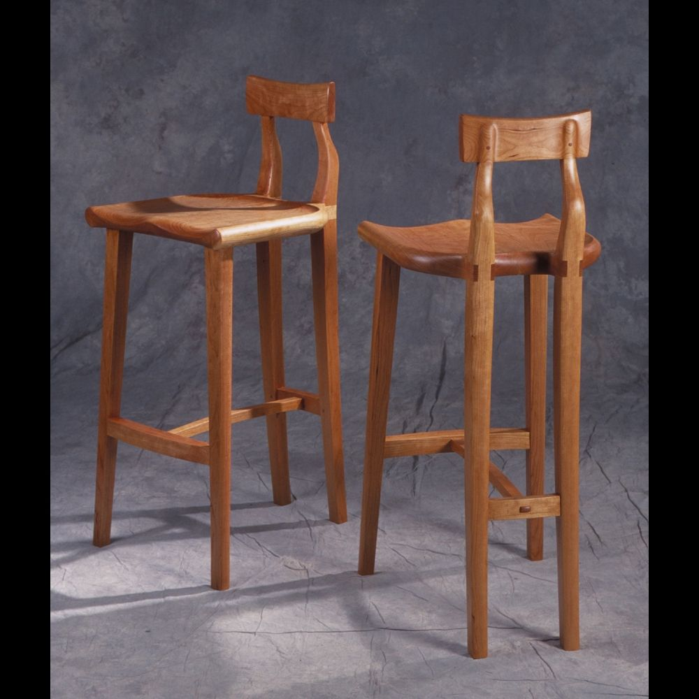 Hand Made Cherry Bar Stools By Blackstone Design