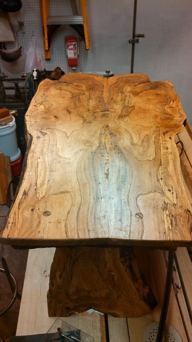 Hand Made Spalted Water Oak Live Edge Coffee Table By