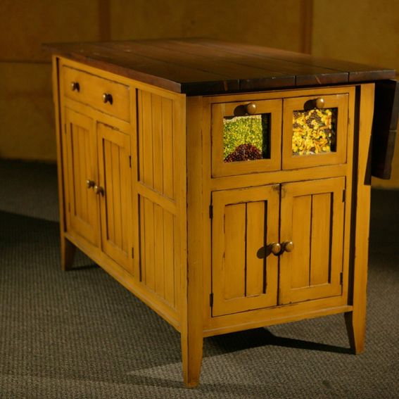 Kitchen Islands Made From Old Furniture: Hand Made Kitchen Island Mustard Base With Antique Walnut