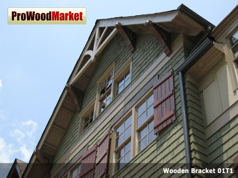 Custom made wooden bracket by pro wood market - Exterior structural wood brackets ...