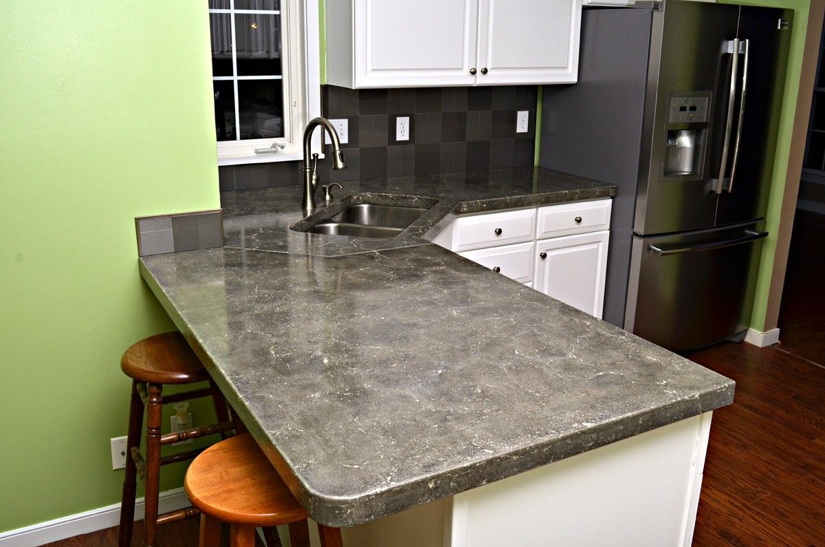 Custom made kitchen countertops concrete by formed stone for Designer countertops