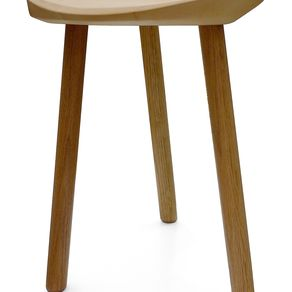 Hand Crafted Three Legged Stool By Holmquist Furniture