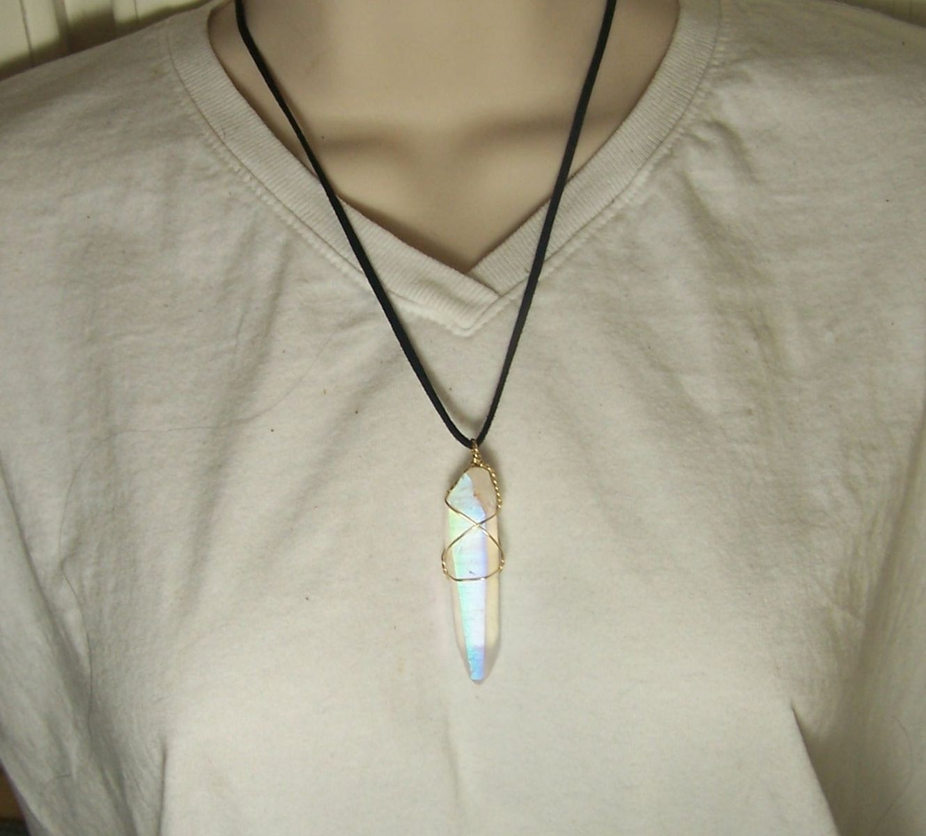 Hand Crafted Wire Wrap Crystal Angel Aura Wire Wrap