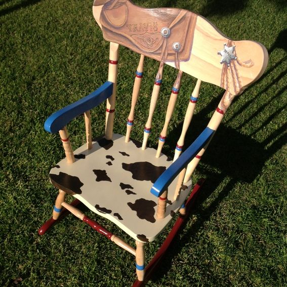 ... Painted Western Rocking Chair by Lara Eve Designs  CustomMade.com