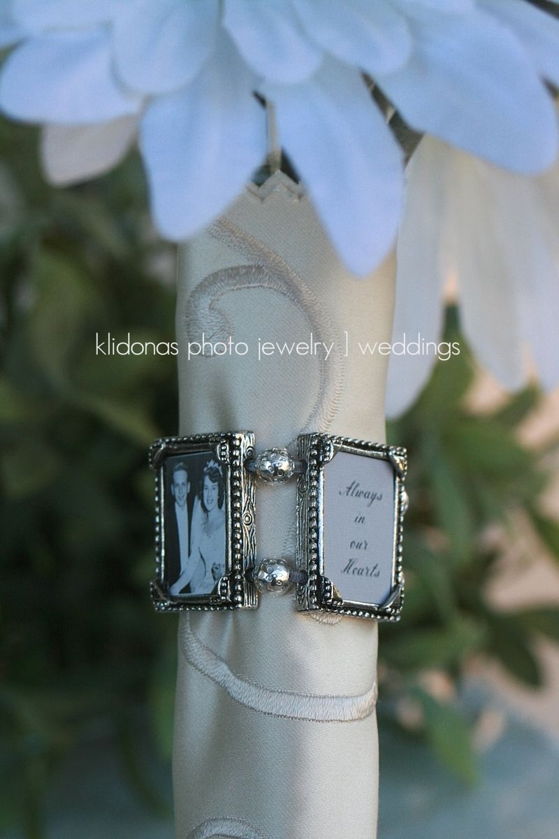 handmade memorial photo pewter bouquet charm by klidonas design
