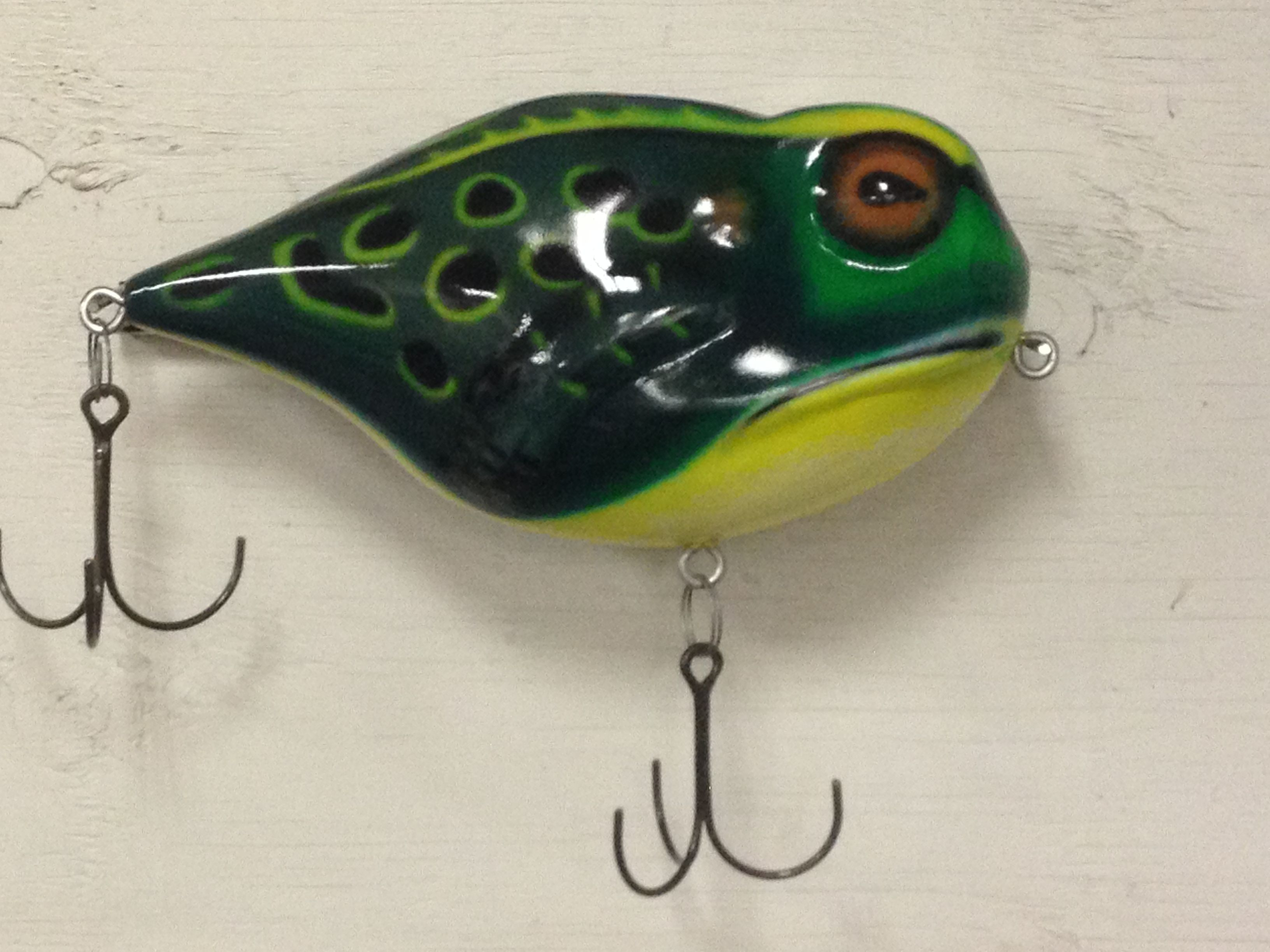 Custom made giant fishing lure wall hanging decor by for Fishing lure decor