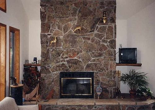 Custom Stone Fireplace Veneer With Stone Shelves By Mountain Masonry Smoky Mountain