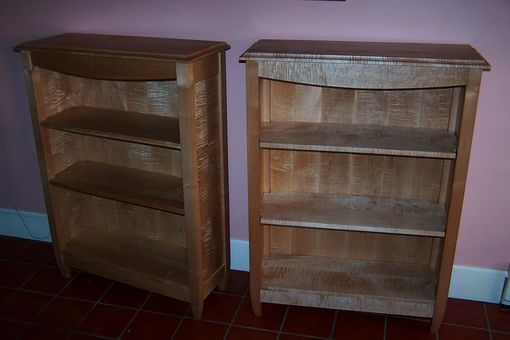 Custom Made Tiger Maple Bookcase