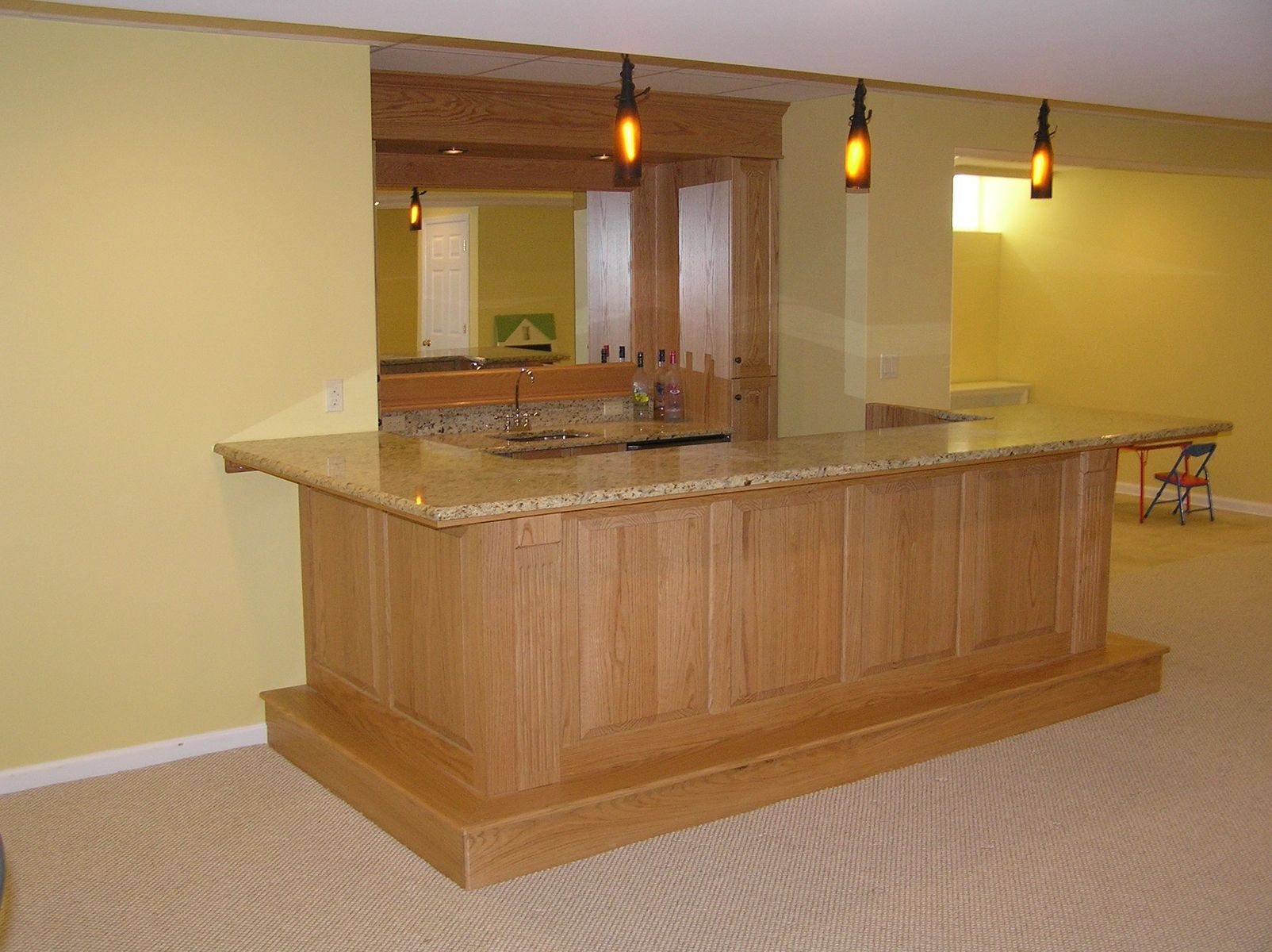 hand made finished basement and bar morris county nj by cabinetmaker
