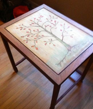 Custom Made End Table With Tree