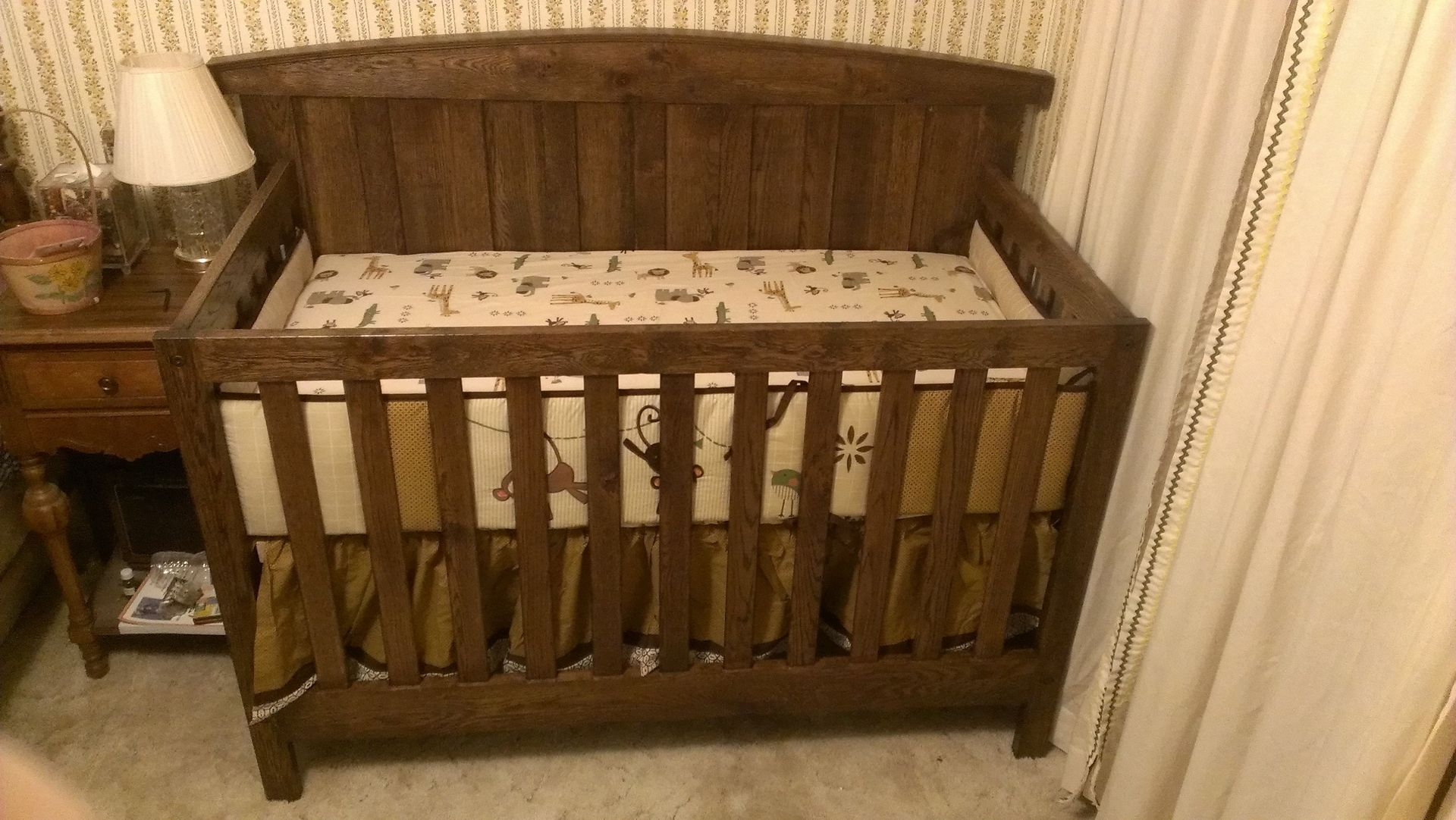 solid oak crib and changing table  creative ideas of baby cribs - custom made solid oak farm style crib by scott design custommadecom