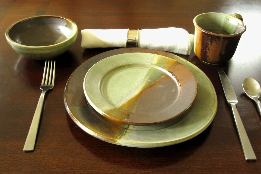 hand crafted handmade pottery dinner plate choose your