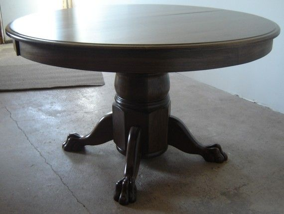 Handmade new solid walnut wood 52 round kitchen living for Solid wood round dining table with leaf