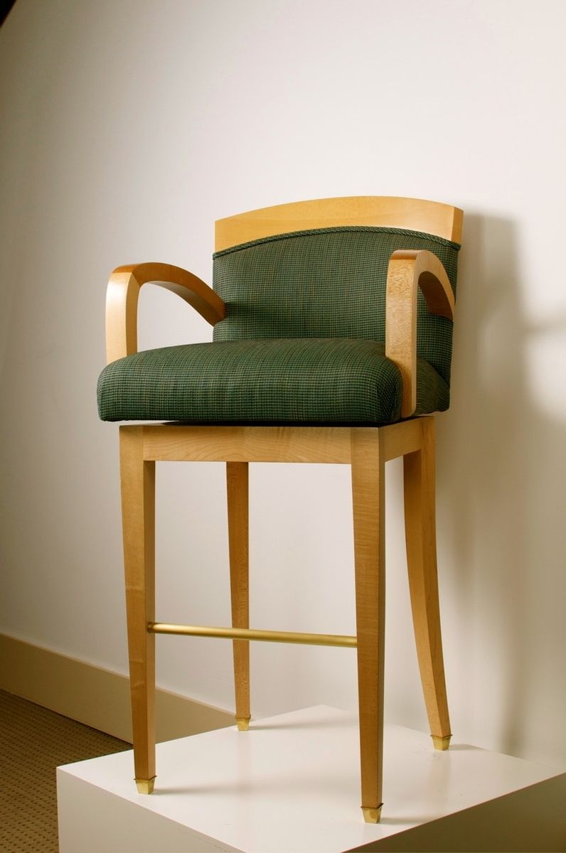 Hand Crafted Bar Stool With Arms Quot Largo Quot By