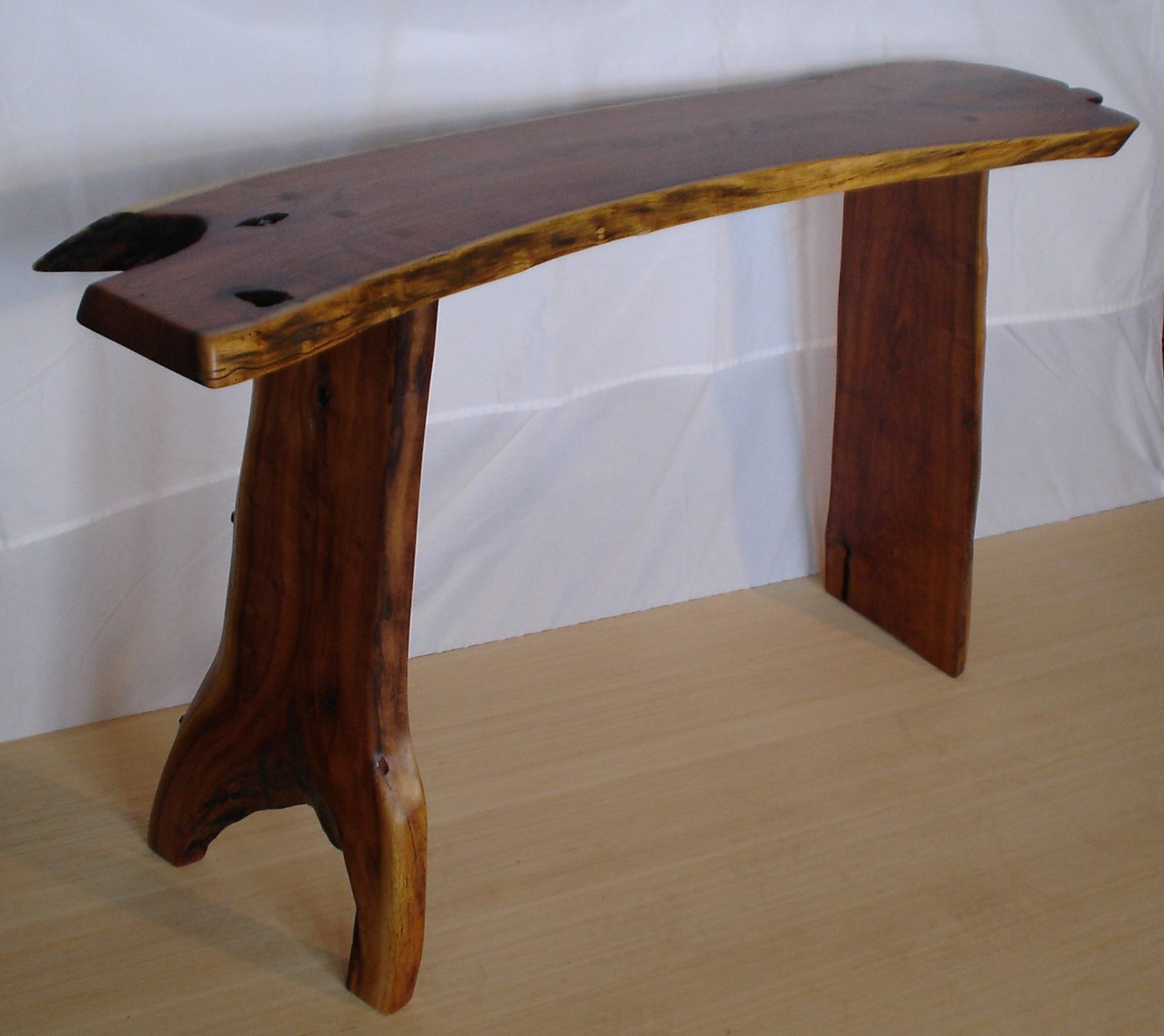 Live Edge Foyer Table : Hand crafted live edge mesquite hall table by howl