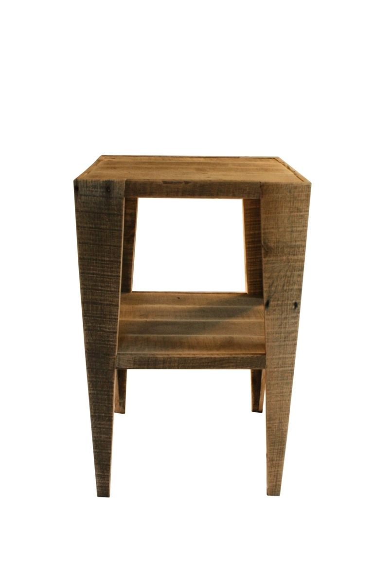 Hand made night stand end table pallet wood by little blue for End tables made from pallets