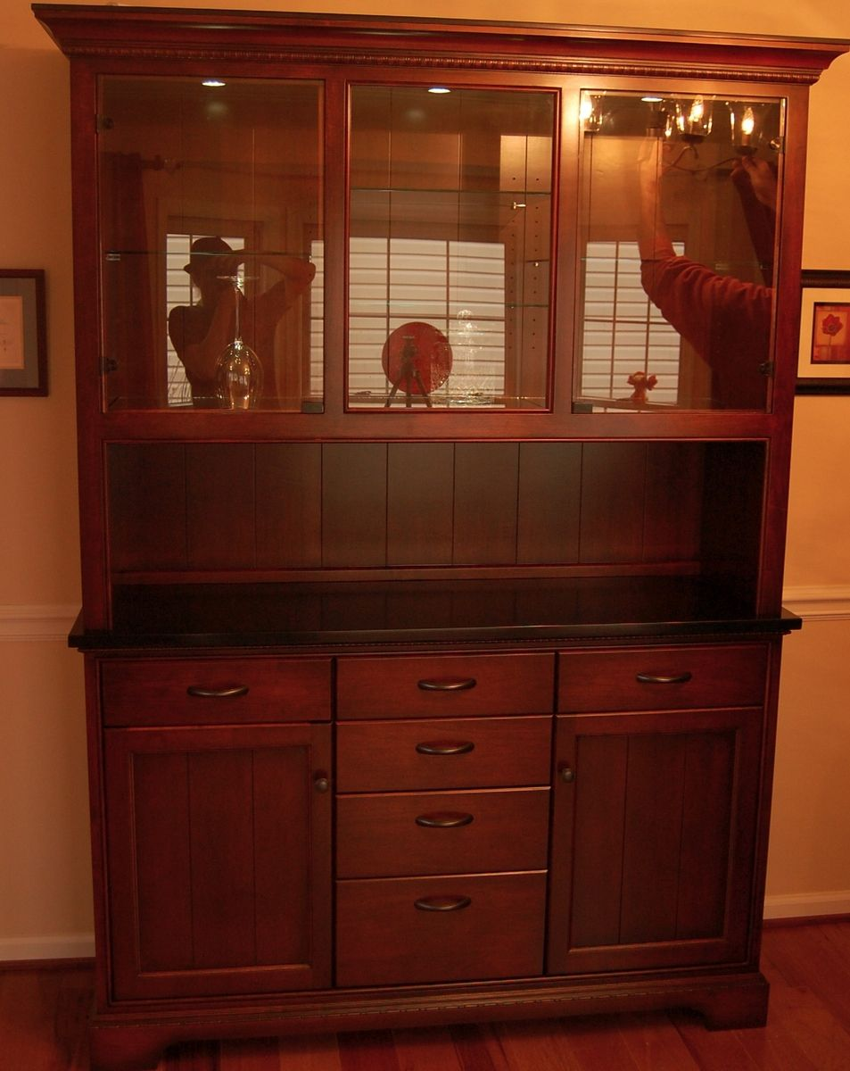 Handmade dining room cabinet by sjk woodcraft design for Built in dining room cabinet designs