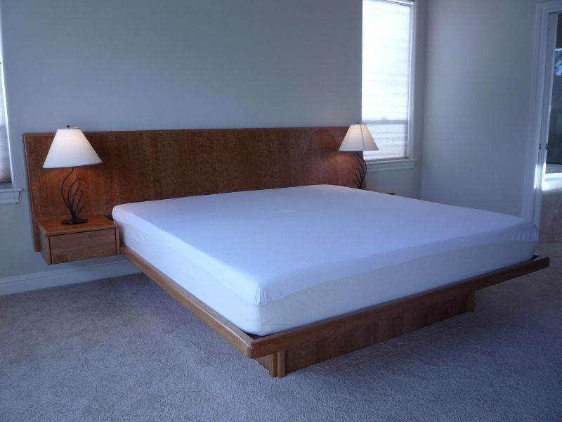 handmade cherry platform bed by natural choice furniture. Black Bedroom Furniture Sets. Home Design Ideas
